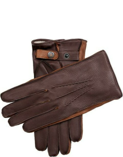 Dents Men's Cashmere Lined Leather Gloves In Eng Tan/high Tan
