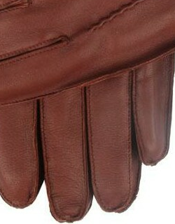 Dents Men's Lambswool Lined Leather Gloves In English Tan