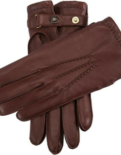 Dents Men'S Cashmere Lined Leather Gloves In Brown