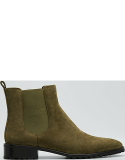 Chelata Suede Chelsea Ankle Booties
