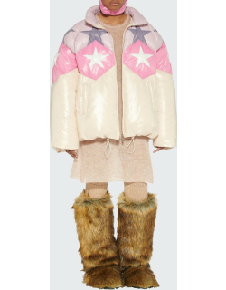 Colorblock Star Down Jacket