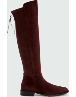 Norina Stretch Suede Riding Boots
