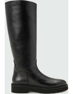 Milana Leather Tall Flat Boots
