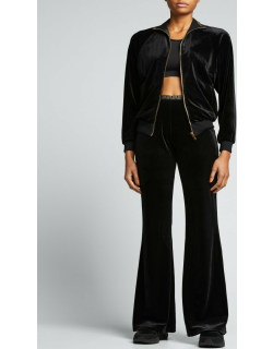 Chenille Flared Tracksuit Pants