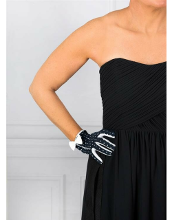 Dents Women's Spotted Cotton Gloves In Navy/white