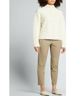 Felted Wool-Cashmere Mixed-Knit Sweater