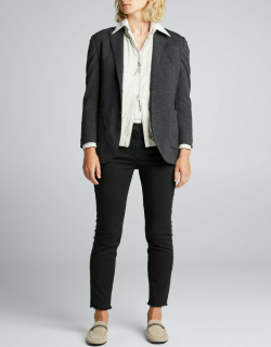 Button-Down Jersey Jacket