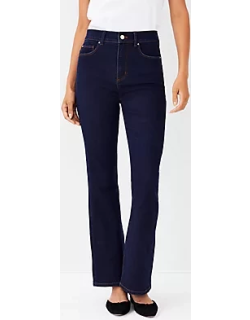 Ann Taylor Petite Sculpting Pocket High Rise Boot Cut Jeans in Classic Rinse Wash