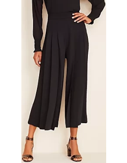 Ann Taylor The Pleated Wide Leg Crop Pant