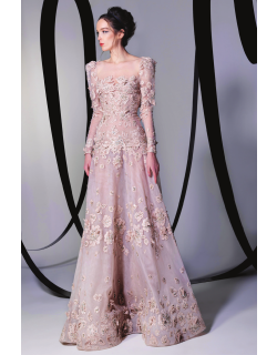 Tony Ward Floral Gown