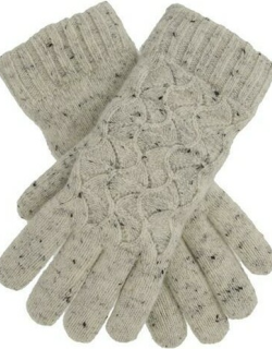 Dents Women's Lace Knit Gloves In Winter White