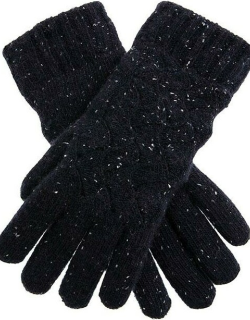 Dents Women's Lace Knit Gloves In Navy