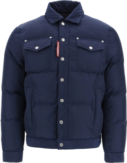 DSQUARED2 DOWN JACKET WITH POCKETS 52 Blue