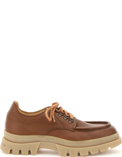 HENDERSON NORDIC LEATHER LACE-UP SHOES 44 Brown Leather