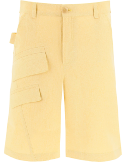 JACQUEMUS COLZA SHORT TROUSERS 46 Yellow Linen