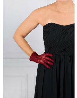 Dents Women's Lace Gloves In Claret