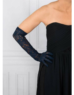 Dents Women's Long Lace Evening Gloves In Navy