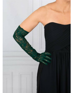 Dents Women's Long Lace Evening Gloves In Forest