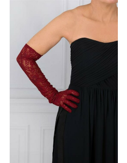 Dents Women's Long Lace Evening Gloves In Claret