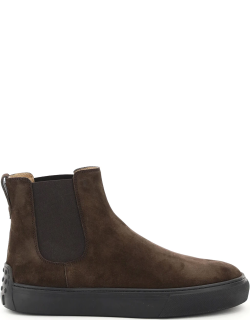 TOD'S CHELSEA CASUAL BOOTS 5 Brown Leather