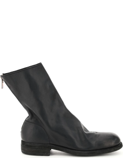 GUIDI LEATHER BOOTS 42 Black Leather