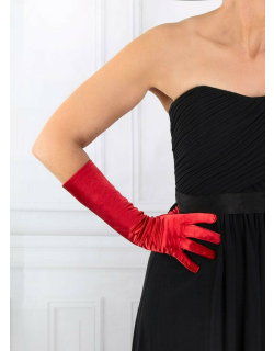 Dents Women's Mid-Length Satin Gloves In Berry
