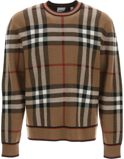 BURBERRY NAYLOR SWEATER M Brown, Black, Red, White Wool