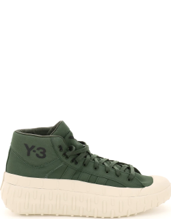 Y-3 GRIP 1 HIGH SNEAKERS 5 Green Technical