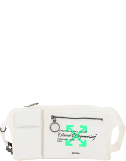 """OFF-WHITE """"SOUND ENGINEER"""" BELTPACK OS White, Green Technical"""