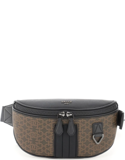 BALLY MATEY BELTPACK OS Brown, Black Cotton, Leather