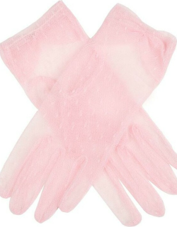 Dents Women's Tulle Gloves In Pink