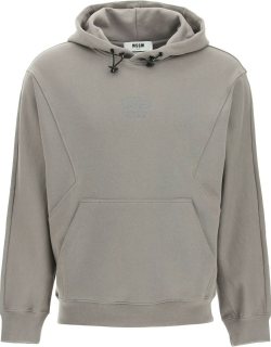 MSGM HOODIE WITH COORDINATES EMBROIDERY M Grey Cotton