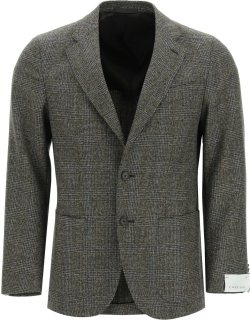 CARUSO TOSCA PRINCE OF WALES JACKET 48 Brown, Blue Wool