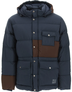 PYRENEX UNIVERSAL WORKS DOWN JACKET S Blue, Brown Technical
