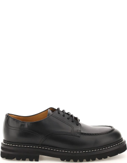 HENDERSON LEATHER LACE-UP SHOES 40 Black Leather