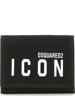 DSQUARED2 ICON WALLET OS Black, White Technical