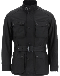 BARBOUR INTERNATIONAL BLACKWELL INTERNATIONAL JACKET IN WAXED COTTON S Black Cotton