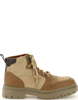 HENDERSON LACE-UP BOOTS 40 Beige, Brown Leather