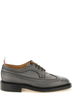 THOM BROWNE LONGWING BROGUE SHOES 8 Grey Leather