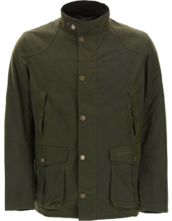 BARBOUR LEEWARD JACKET IN WAXED COTTON S Green Cotton
