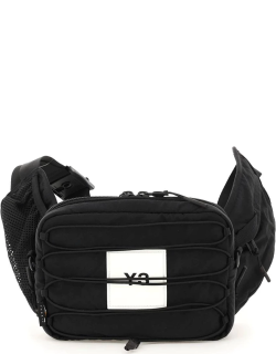Y-3 BELT BAG WITH LOGO AND COULISSE OS Black Technical