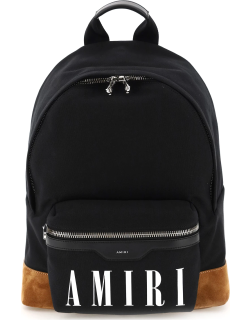 AMIRI CANVAS BACKPACK WITH LOGO OS Black Cotton