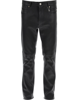 ALYX SIX POCKET LEATHER TROUSERS 50 Black Leather