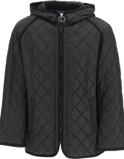 JUNYA WATANABE HOODED QUILTED JACKET S Black Technical