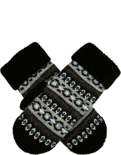 Dents Women's Fair Isle Knitted Mittens In Black