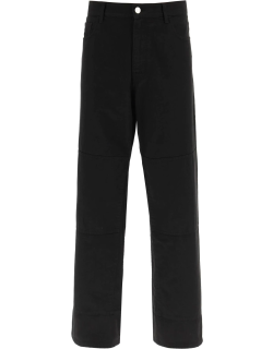 RAF SIMONS WORKWEAR JEANS WITH KNEE PATCHES 30 Black Denim