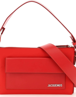 JACQUEMUS LE PINU BI-MATERIAL BAG OS Red Technical, Leather