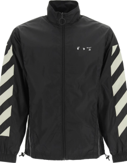 OFF-WHITE RECYCLED NYLON TRACK JACKET S Black, Beige Technical