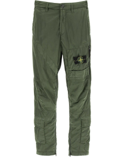 STONE ISLAND HELICOPTER TROUSERS IN NYLON RASO-TC 31 Green Technical