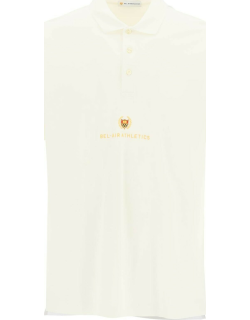 BEL-AIR ATHLETICS ACADEMY CREST POLO SHIRT S White, Yellow Cotton